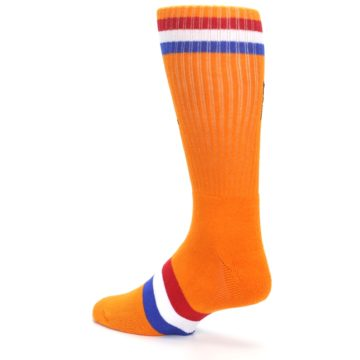 Image of Orange Wheaties Cereal Men's Casual Socks (side-2-back-14)