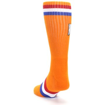 Image of Orange Wheaties Cereal Men's Casual Socks (side-2-back-16)