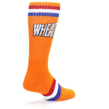 Image of Orange Wheaties Cereal Men's Casual Socks (side-1-back-22)