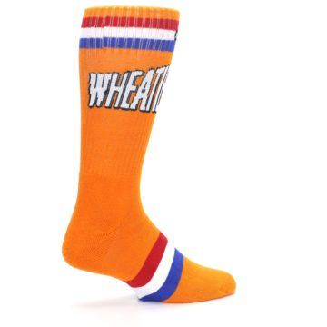 Image of Orange Wheaties Cereal Men's Casual Socks (side-1-23)
