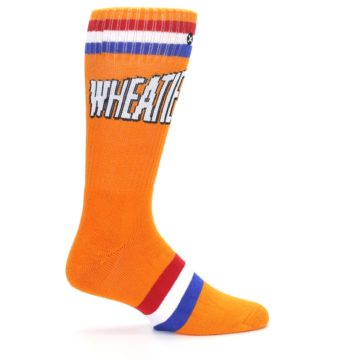 Image of Orange Wheaties Cereal Men's Casual Socks (side-1-24)