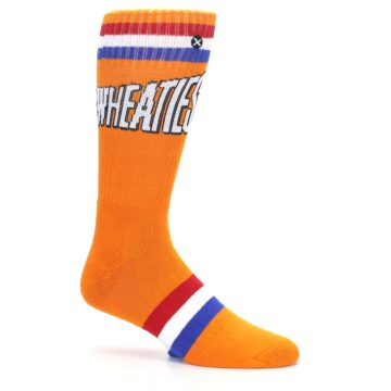 Image of Orange Wheaties Cereal Men's Casual Socks (side-1-25)