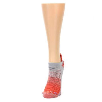 Image of Orange Gray Stripe Women's No-Show Tab Athletic Socks (side-2-front-07)