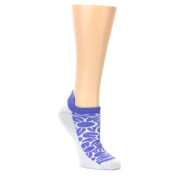 MEDIUM-Purple-Gray-Floral-Womens-No-Show-Tab-Athletic-Socks-Drymax