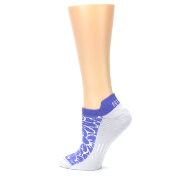 Image of Purple Gray Floral Women's No-Show Tab Athletic Socks (side-2-13)