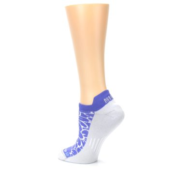 Image of Purple Gray Floral Women's No-Show Tab Athletic Socks (side-2-back-14)