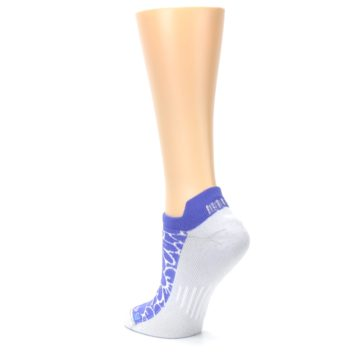 Image of Purple Gray Floral Women's No-Show Tab Athletic Socks (side-2-back-15)