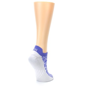 Image of Purple Gray Floral Women's No-Show Tab Athletic Socks (side-1-back-22)