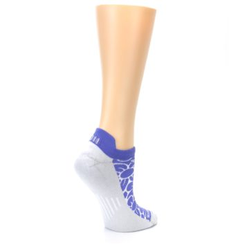 Image of Purple Gray Floral Women's No-Show Tab Athletic Socks (side-1-23)