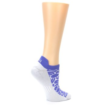 Image of Purple Gray Floral Women's No-Show Tab Athletic Socks (side-1-24)