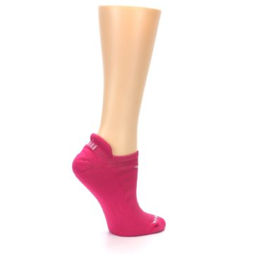 Image of Pink Solid Women's No-Show Tab Athletic Socks (side-1-24)