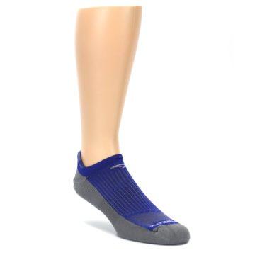 LARGE-Royal-Blue-Gray-Mens-No-Show-Tab-Athletic-Socks-Drymax