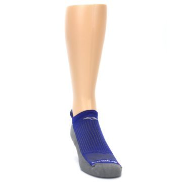 Image of Royal Blue Gray Men's No-Show Tab Athletic Socks (side-1-front-03)