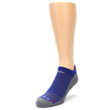 Image of Royal Blue Gray Men's No-Show Tab Athletic Socks (side-2-front-07)