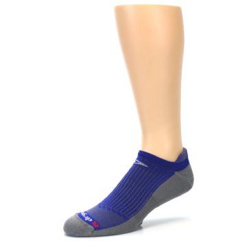 Image of Royal Blue Gray Men's No-Show Tab Athletic Socks (side-2-09)