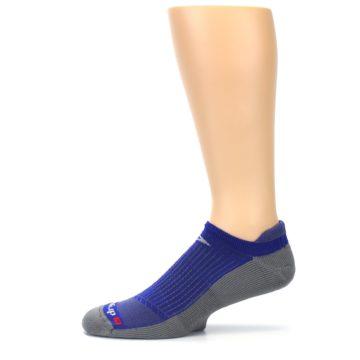 Image of Royal Blue Gray Men's No-Show Tab Athletic Socks (side-2-11)
