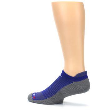 Image of Royal Blue Gray Men's No-Show Tab Athletic Socks (side-2-13)
