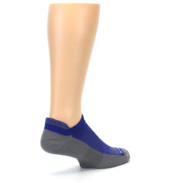 Image of Royal Blue Gray Men's No-Show Tab Athletic Socks (side-1-back-22)