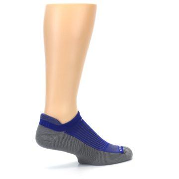 Image of Royal Blue Gray Men's No-Show Tab Athletic Socks (side-1-23)