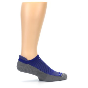 Image of Royal Blue Gray Men's No-Show Tab Athletic Socks (side-1-24)