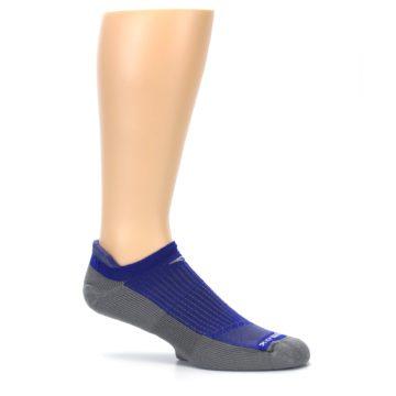 Image of Royal Blue Gray Men's No-Show Tab Athletic Socks (side-1-25)
