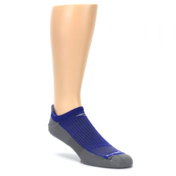 Image of Royal Blue Gray Men's No-Show Tab Athletic Socks (side-1-27)