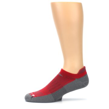 Image of Gray Red Men's No-Show Tab Athletic Socks (side-2-11)