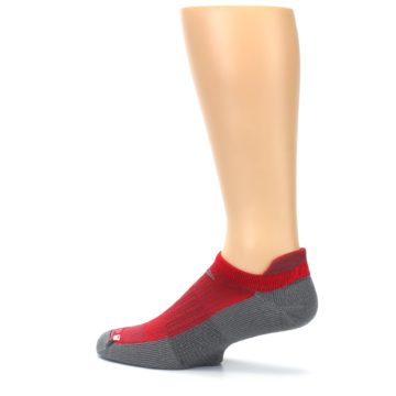 Image of Gray Red Men's No-Show Tab Athletic Socks (side-2-13)