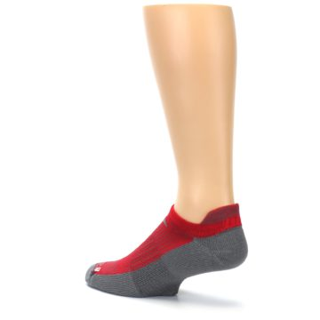 Image of Gray Red Men's No-Show Tab Athletic Socks (side-2-back-14)
