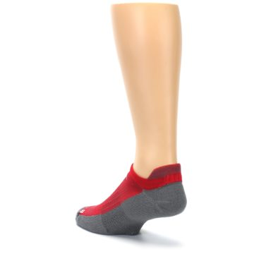 Image of Gray Red Men's No-Show Tab Athletic Socks (side-2-back-15)