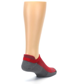 Image of Gray Red Men's No-Show Tab Athletic Socks (side-1-back-21)