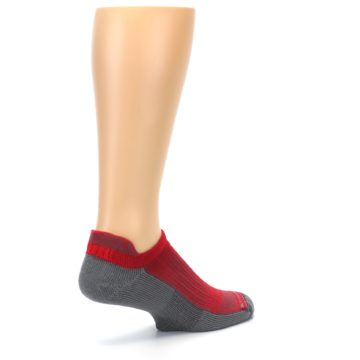 Image of Gray Red Men's No-Show Tab Athletic Socks (side-1-back-22)