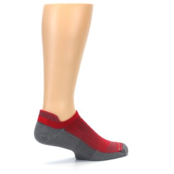 Image of Gray Red Men's No-Show Tab Athletic Socks (side-1-23)