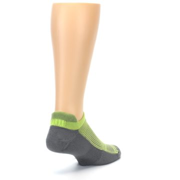 Image of Gray Lime Green Men's No-Show Tab Athletic Socks (side-1-back-21)