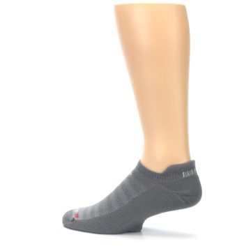 Image of Gray Solid Men's No-Show Tab Athletic Socks (side-2-13)