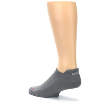 Image of Gray Solid Men's No-Show Tab Athletic Socks (side-2-back-14)
