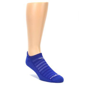 LARGE-Royal-Blue-Solid-Mens-No-Show-Tab-Athletic-Socks-Drymax