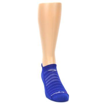Image of Royal Blue Solid Men's No-Show Tab Athletic Socks (side-1-front-03)