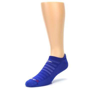 Image of Royal Blue Solid Men's No-Show Tab Athletic Socks (side-2-front-08)