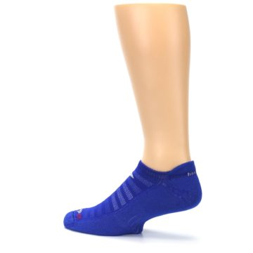 Image of Royal Blue Solid Men's No-Show Tab Athletic Socks (side-2-13)