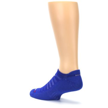 Image of Royal Blue Solid Men's No-Show Tab Athletic Socks (side-2-back-14)