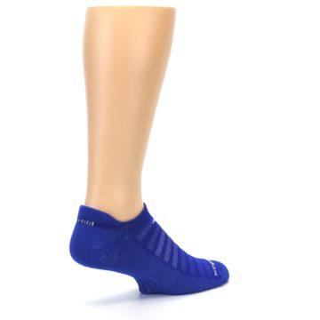 Image of Royal Blue Solid Men's No-Show Tab Athletic Socks (side-1-back-22)