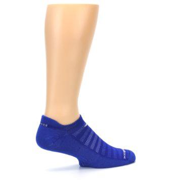 Image of Royal Blue Solid Men's No-Show Tab Athletic Socks (side-1-23)