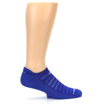Image of Royal Blue Solid Men's No-Show Tab Athletic Socks (side-1-24)