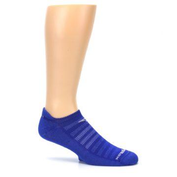 Image of Royal Blue Solid Men's No-Show Tab Athletic Socks (side-1-25)