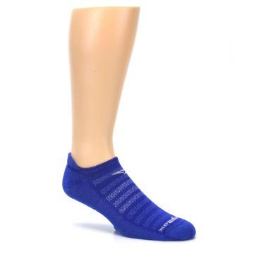 Image of Royal Blue Solid Men's No-Show Tab Athletic Socks (side-1-26)