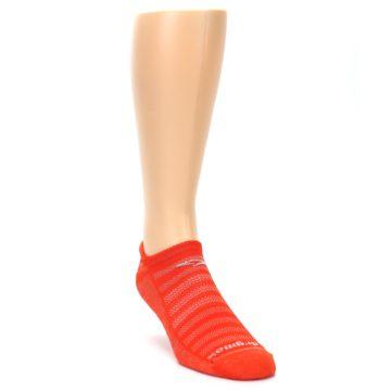 Image of Orange Solid Men's No-Show Tab Athletic Socks (side-1-front-02)