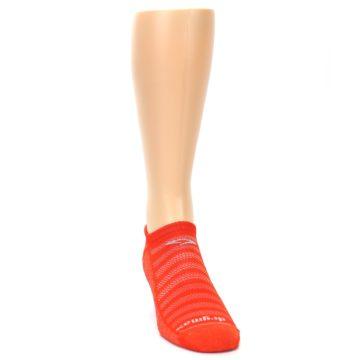 Image of Orange Solid Men's No-Show Tab Athletic Socks (side-1-front-03)