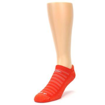 Image of Orange Solid Men's No-Show Tab Athletic Socks (side-2-front-07)