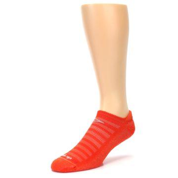 Image of Orange Solid Men's No-Show Tab Athletic Socks (side-2-front-08)